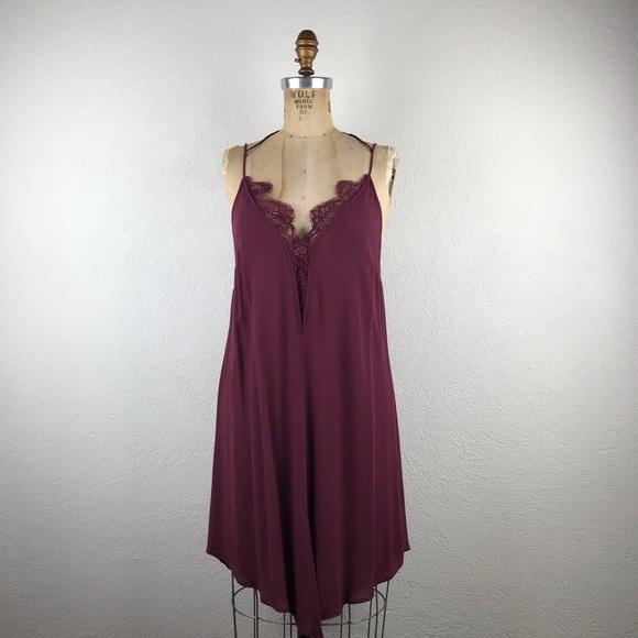 Free People Dresses & Skirts - Free People l Parisian Lace Bust V-Hem Slip Dress